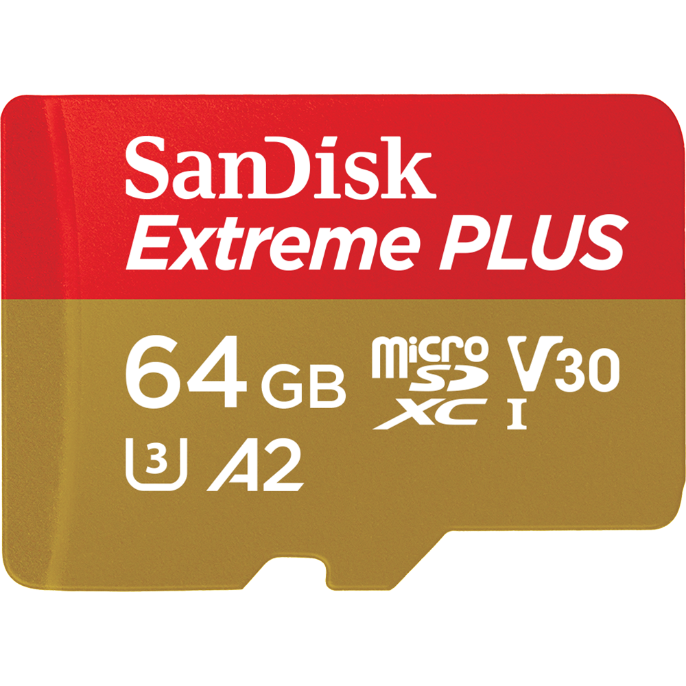 "SanDisk Extreme<sup>®</sup> PLUS<br> <span class=""no-caps"">microSD</span> UHS-I Card<br> for Action Cameras & Drones"