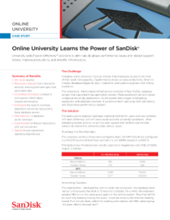 Online University Learns the Power of SanDisk