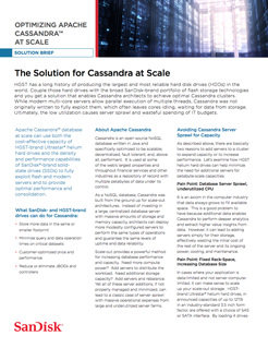 Optimizing Apache Cassandra™ Database at Scale Solution Brief