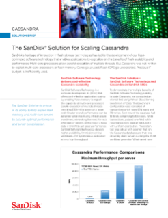 The SanDisk<sup>®</sup>  Solution for Scaling Cassandra